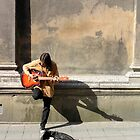 busking at the cathedral by kchamula
