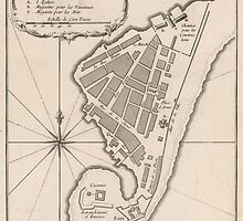 Vintage Map of Port Royal Jamaica (1764) by BravuraMedia