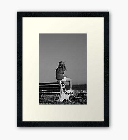 Lonely Girl Framed Print