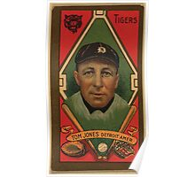 Benjamin K Edwards Collection Thomas Jones Detroit Tigers baseball card portrait Poster