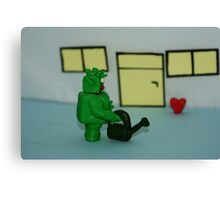 GREEN MAN WIT HEART Canvas Print