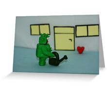 GREEN MAN WIT HEART Greeting Card