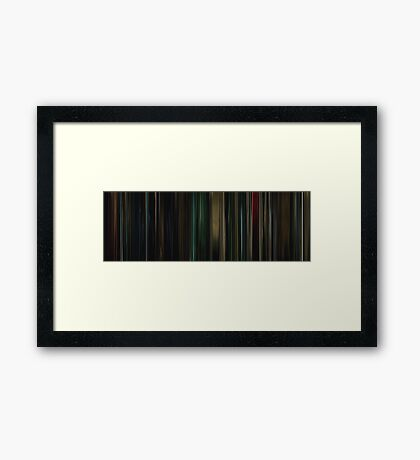 Moviebarcode: Buried (2010) Framed Print