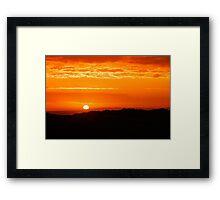 Firey Sky Framed Print