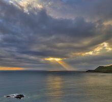 Light rays from heaven by Trevor Harley