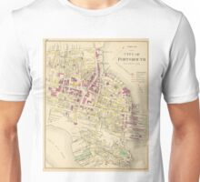Vintage Map of Portsmouth NH (1892) Unisex T-Shirt