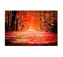 Oregon Fall Oil Painting Art Print