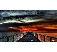 Largs Bay Sunset Photographic Print