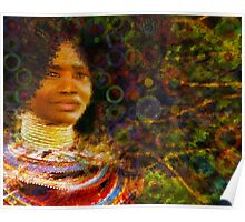 Beautiful African Woman Poster