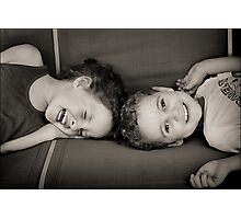 Sibling Revelry : ) Photographic Print