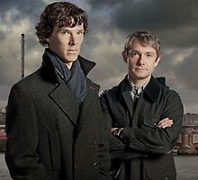 BBC Sherlock Poster. Benedict Cumberbatch and Martin Freeman by ILuvSherlock