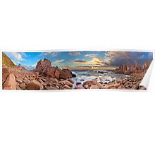 Pinnacles Panorama Poster