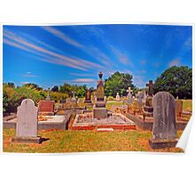 Cemetery at Westbury Poster