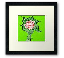 Scribblertoo Rose Framed Print