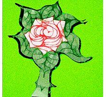 Scribblertoo Rose Photographic Print