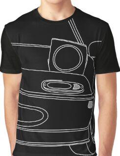 miata outline - white Graphic T-Shirt