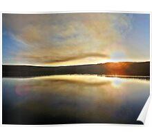 Redmires Reservoir nearing sunset Poster