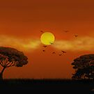 African Sunset by SophiaDeLuna
