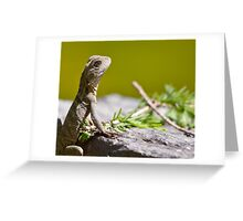 Close Water Dragon Greeting Card