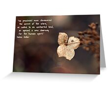 The Optimist Greetings Card Greeting Card