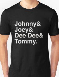 Johnny & Joey & Dee Dee & Tommy  - Ramones t-shirt T-Shirt