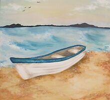 boat on shore by Kelly Steen