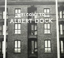 Albert Dock in Monochrome by AndrewBerry