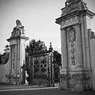 Lion Gate, Hampton Court Black and White by Dave Godden