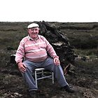 Peat stacker having a rest!  North Uist, Outer Hebrides, Scotland 2.8.2011 by epgaskell