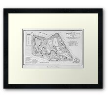 Vintage Map of Prospect Park (1901) Framed Print