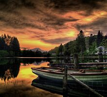 Spring Sunset On Loch Ard by Aj Finan
