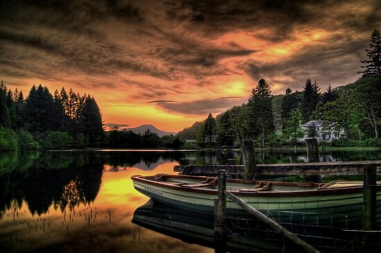 Spring Sunset On Loch Ard by Aj Finan