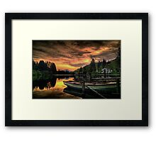 Spring Sunset On Loch Ard Framed Print