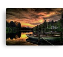 Spring Sunset On Loch Ard Canvas Print