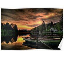 Spring Sunset On Loch Ard Poster