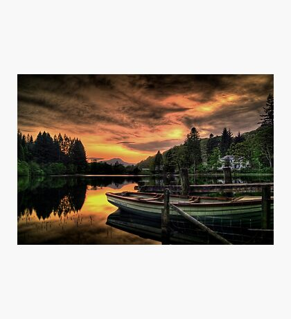 Spring Sunset On Loch Ard Photographic Print