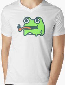 Frog And Fly Mens V-Neck T-Shirt