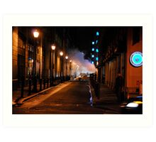 Down the alley  Art Print