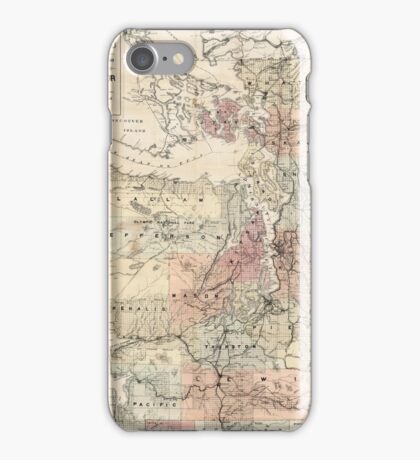 Vintage Map of The Puget Sound (1891) iPhone Case/Skin