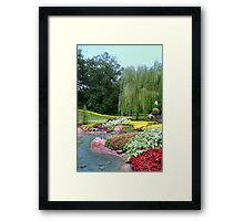 Lovely Garden with a Pond in Orlando Florida Framed Print