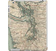 Vintage Map of The Puget Sound (1910) iPad Case/Skin