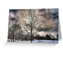 Lonely cold tree Greeting Card