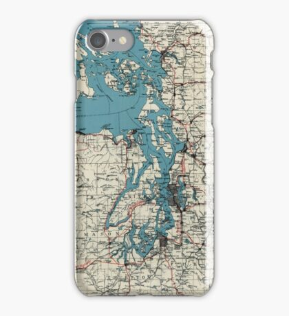 Vintage Map of The Puget Sound (1919) iPhone Case/Skin