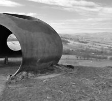 Looking towards Pendle from Atom Panopticon, Wycoller, Lancashire by Nick Coates