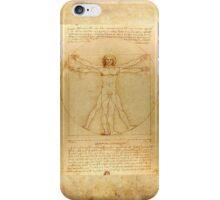 Leonardo Da Vinci Virtruvian Man iPhone Case/Skin