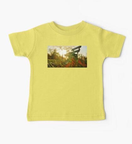 Back-lit Fallen Leaf with Bench Baby Tee