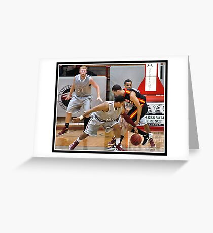 UIndy vs Missouri-St. Louis Mens 7 Greeting Card
