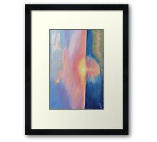 Pamlico Sound Sunset Framed Print
