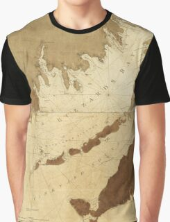 Buzzards Bay and Vineyard Sound Massachusetts Map (1776) Graphic T-Shirt