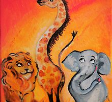 african animal friends by pjan3202